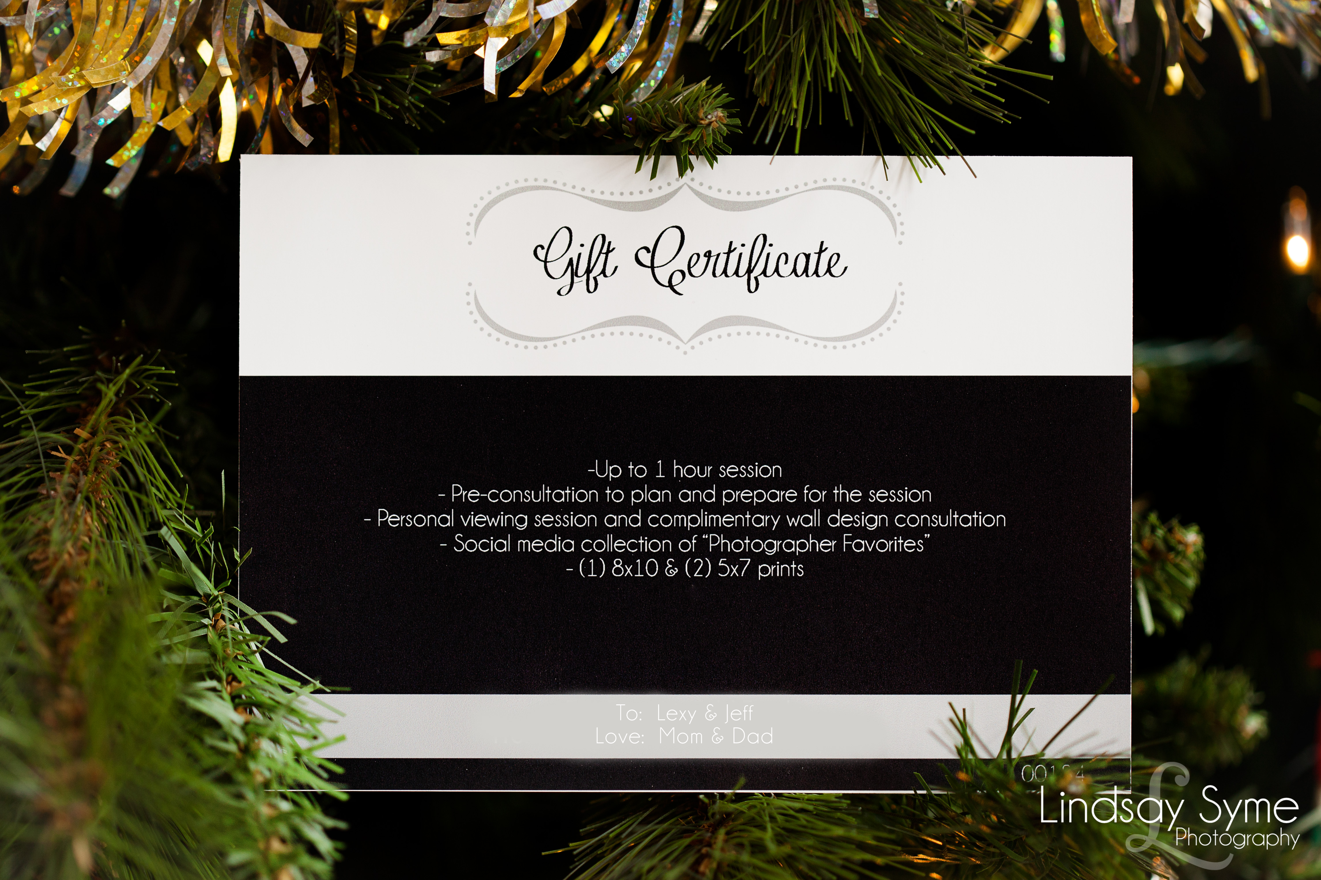 Photography Gift Certificates - Lindsay Syme Photography