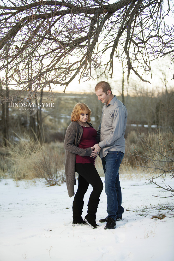 Couples Maternity Session by Lindsay Syme