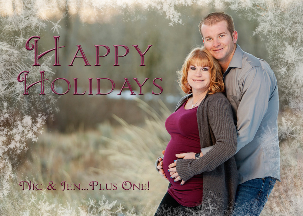Holiday Maternity Image by Elko Photographer Lindsay Syme
