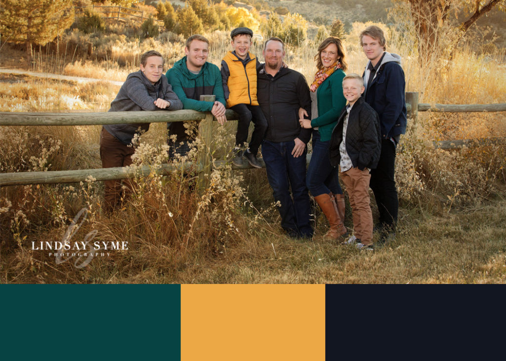 Walthers Family Color Palette for their family portraits